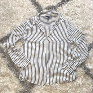 Forever 21 Collared Stripe Blouse